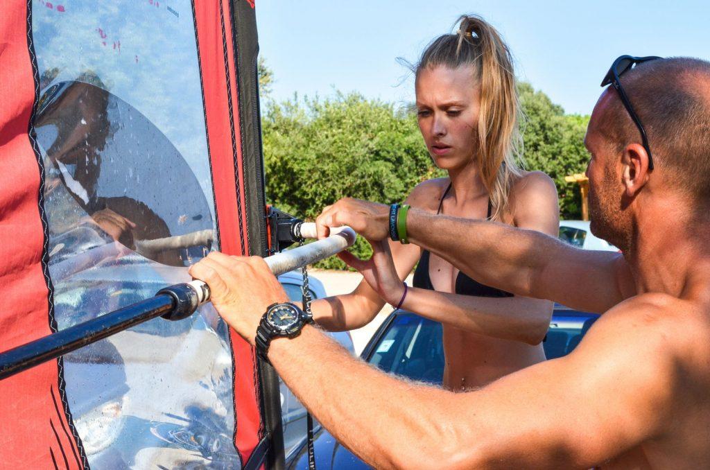 Extreme windsurfing courses Korcula - simulator exercises