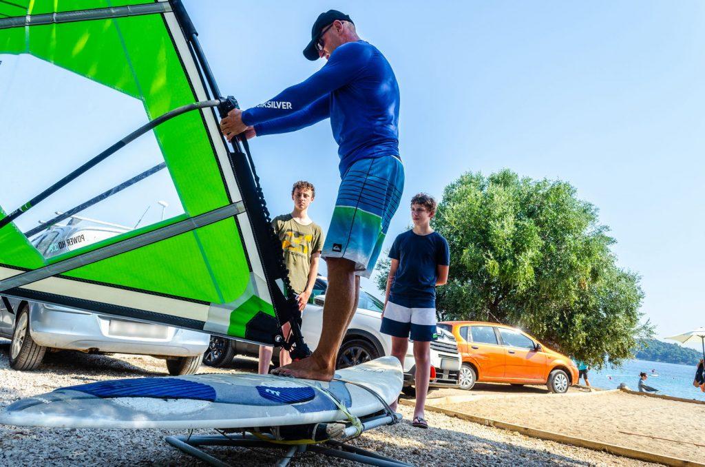 Extreme Korcula windsurfing lessons - simulator exercises